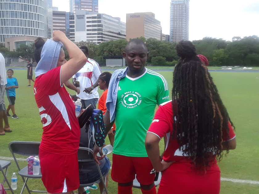 Luc Mbah A Moute, Soccer Charity, Event, Rice University, Hollaway Field